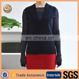 V neck fashion cashmere sweater for womens