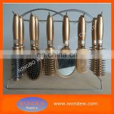 Salon hairbrush set,professional hair brush mirror set