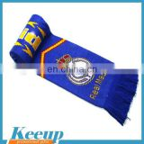 Wholesale jacquard woven scarf, crazy soccer fans scarf,embroidery logo scarf