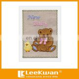 Lovely Animal Design Embroidery Greeting Cards for New Baby