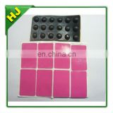 Self adhesive rubber pad