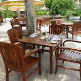 Outdoor Patio Chairs Brushed Teak Outdoor Furniture Light Weight