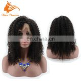 Natural Color Good Quality 100% Waterproof Remy Hair Frontal Lace Wig