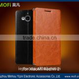 MOFi Wholesale Flip PU Leather Cell Phone Cover for XiaoMi RedMi 2, TPU Stand Back Cases