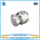 Double ferrule compression tube fitting, tube cap ferrules for imperail tubes, pipe accessories