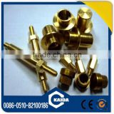 oem high quality and lowest price brass bolt nut fasteners china supplier