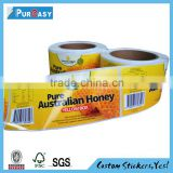 Beautiful custom self adhesive label sticker for honey packaging                                                                         Quality Choice