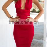 Women summer Fashion dress Sleeveless Casual Party dress Clothes Slim Waist Evening Dress