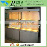 Easy & simple wall mount glass display cabinets with LED light, decorative wall cabinets