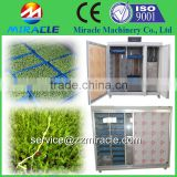 China high quality plastic tray barley and alfalfa seeds growing sprout system house