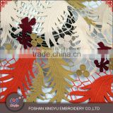 New garment multi-color textle fabric of baby or adult 100% embroidery African silk lace