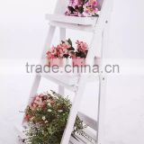 Foldable 3-Tier wooden garden flower display shelf                                                                         Quality Choice