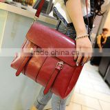 US and Euro Fashion PU leather single shoulder bag/leisure bag/casual bag/handbag/tote bag/Motorcycle Bag