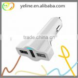 Mini airplane 3 port car charger for lenovo K5/P1/K3