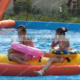 popular inflatable banana boat aqua floating toys for kids
