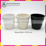 Stock sales mini Melamine flower pot MX0902-0 creamy-white and Beige small ceramic flower pot