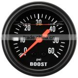 65mm Black Face Liquid Filled Mechanical Boost Gauge for Diesel 0~60PSI