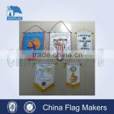 Decoration usage of mini banner and satin pennant                                                                         Quality Choice