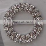 Diamante round slider buckle