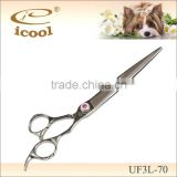 UF3L-70 flat blade scissors,professional pet hair cutting scissors/professional salon trimmers