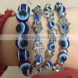 Fashion Jewelry Charm Hamsa Hand Lucky Evil Eye Beads Bracelet For Women And Men
