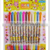 factory free sample glitter gel pen with carton design