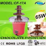 65W 3 Tiers Electric Chocolate Fountain. Triple Chocolate Fountain CF-17A CE GS ROHS ETL