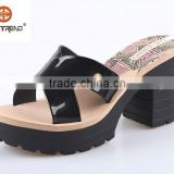 fashion lady shoes 2015 high heel slipper shoes pvc jelly slipper comfortable insole shoes