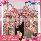 2016 new design shop decorative soft long stem pink cherry blossom branches wholesale