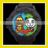 2016 Hot Sell Products Bros Konno and Panda Unisex Waterproof PVC Band Rubber Wrist Black Watch