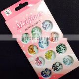 Top Quality Nail art Crsytal 12 colors Resin rhinestones 3D Nail Art decoration Germs wholesale jewelry