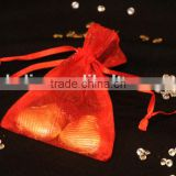 Fashionable Small Drawstring Organza Mesh Bag/Jewelry drawstring organza pouch gift bag/small Christmas gift bag