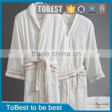 Hot Sale 100% Egyption Cotton Fabric Hotel Bathrobe Kimono Japanese Style Hotel Bathrobe