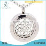 Fashionable 316l stainless steel glass locket,25mm perfume locket,essential oil diffuser locket