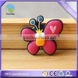 Custom butterfly animal shaped soft pvc/rubber souvenir freezer magnet
