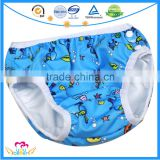 New Print Infant Swimming Nappies Side Snap Swimwear Swim Diapers For Baby