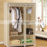2015 Hot Sale Portable Folding Non-Woven Fabric Wardrobe
