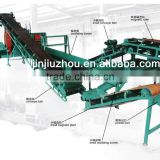 Rubber crusher plant unit for waste tire recycling / two rolls tire crusher machine for making rubber powder