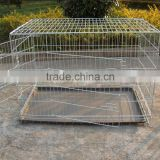 china galvanized steel iron wire large double heavy duty strong stainless large dog crates