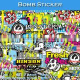 HD-013 CARLIKE 1.52x30M 5FTx98FT Air Free Pretty Decorative Bomb Vinyl Car Wrap Stickers