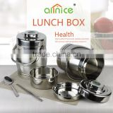 Drum design large capacity 2.8L protable keep food warmer stainless steel lunch bento box