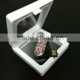 promotional bulk personalized gifts--metal jewelry usb flash drive with window pp gift box
