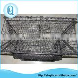 Cheap aquaculture crab trap net two holes folding metal crab netting