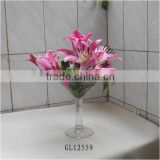 25cm tall giant martini wine glass centerpiece vase