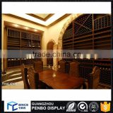 China wholesale customized LED lighted wine display cabinet