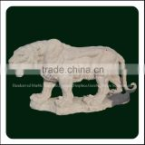 Hand Carved Wholesale Garden Outdoor Tiger Marble Statue