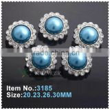 Hot sale new style acrylic rhinestone button flower shape sewing silver plating for flower center DIY crafts