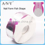 ANY Acrylic UV Gel Paper Full Cover Nail Form Fish Shape 500 Pcs