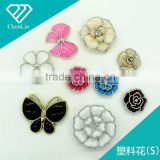 plastic flower charm butterfly multi layered acrylic jewel rhinestone DIY decoration craft fitting shoe jewelry making