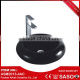 China Manufacturer Wholesale Black Big Bathroom Wash Basin Sink                                                                         Quality Choice